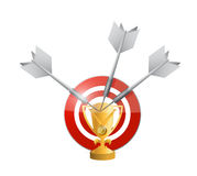 Target victories illustration design Royalty Free Stock Image