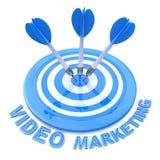 Target Video Marketing Stock Photo
