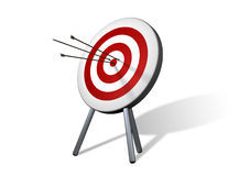 Target on white background. Three arrow in target. Hit the mark Royalty Free Stock Photography