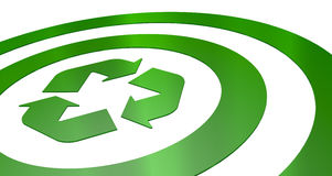 Target With Recycling Symbol Stock Photo