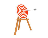 Target With Silver Arrow Royalty Free Stock Photo