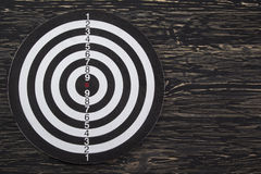 The target  on wooden background Stock Image
