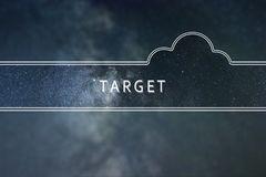 TARGET word cloud Concept. Space background. Space background stock images