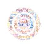 Target word cloud vector illustration