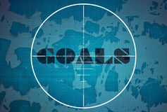 Target and word Goals Royalty Free Stock Photography