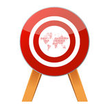 Target the world Stock Photography