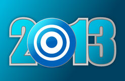 Target year 2013. Illustration design over a blue background Royalty Free Stock Photos