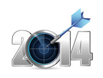 Target year 2014. illustration design. Over a white background Royalty Free Stock Photos