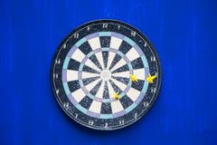 The target. Yellow darts arrows in the target Royalty Free Stock Images