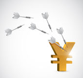 Target yen currency illustration design Royalty Free Stock Photography