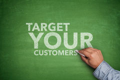Target your customers on Blackboard Royalty Free Stock Photos