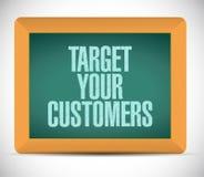 Target your customers message illustration. Design over a white background vector illustration