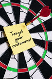 TARGET YOUR CUSTOMERS Stock Photography
