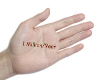 Target on your hand Royalty Free Stock Photos