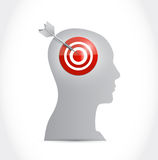Target your mind illustration design Stock Image