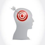 Target your mind illustration design Stock Image