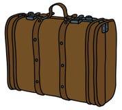 target2041_1_ zawierać rzemienny ścieżki walizki rocznik Zdjęcia Royalty Free