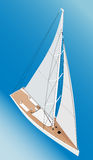 TARGET0_1_ jacht royalty ilustracja