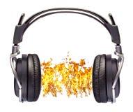TARGET1_0_ słuchawki dźwięk obrazy stock