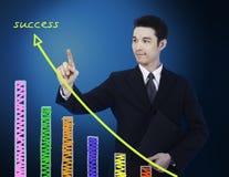 target1012_0_ biznesmena wykres Zdjęcie Stock