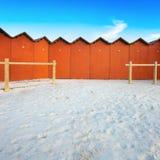 target1045_1_ plażowych bud czerwony biel Obraz Stock