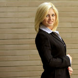 target1063_0_ kobiety ceglany biznesowy następny portret Zdjęcia Royalty Free