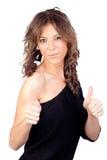 target1067_0_ dziewczyna atrakcyjnego modela Obrazy Royalty Free