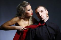 target1073_1_ mężczyzna krawata kobiety Fotografia Stock
