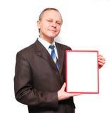 target1074_0_ mężczyzna sztandaru biznes Obrazy Stock