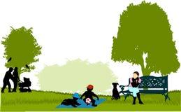 TARGET1081_0_ w parku ilustracja wektor