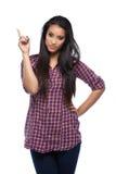 TARGET1083_0_ przy copyspace młoda kobieta Zdjęcia Stock
