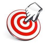 target1110_0_ cel centrum ręka Zdjęcie Stock