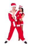 TARGET1111_0_ Santa potomstwo szczęśliwa para Claus odziewa Obrazy Royalty Free