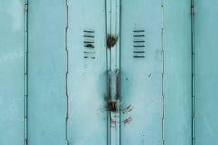 target1144_1_ starego zielonego metal tło drzwi Zdjęcia Stock