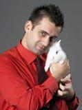 target1151_1_ mężczyzna królika Zdjęcia Royalty Free