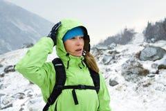 target1154_0_ gór zima kobieta Zdjęcia Royalty Free
