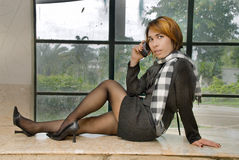 target116_0_ smokingowej formalnej dziewczyny Obrazy Royalty Free