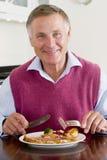 target1199_0_ zdrowy mężczyzna posiłku mealtime fotografia stock