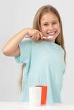 target1256_0_ dziewczyny zęby obraz stock