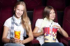 target1265_1_ dziewczyna piękny kinowy film dwa zdjęcie royalty free