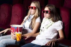 target1300_1_ dziewczyna piękny kinowy film dwa fotografia stock