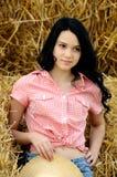 TARGET131_0_ naturę piękna dziewczyna fotografia stock