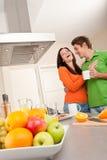 target131_0_ szczęśliwą kuchnię kawowa para Zdjęcie Royalty Free