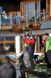 target1340_0_ Austria afterparty narciarki Obrazy Royalty Free