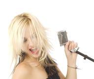 target1347_0_ mikrofonu piosenkarz Zdjęcie Royalty Free