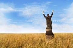 target1357_0_ srtanding sukces biznesmena krzesło Obraz Stock