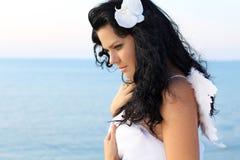 target1364_0_ skrzydło kobiety anielski anioła portret fotografia stock