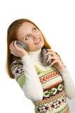 target1374_0_ kobiety atrakcyjni piękni hełmofony Obrazy Stock