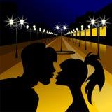 target1422_1_ wektor wieczór kochankowie ilustracji