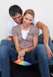 target1475_0_ domowych kochanków kochający nowy ich Fotografia Royalty Free